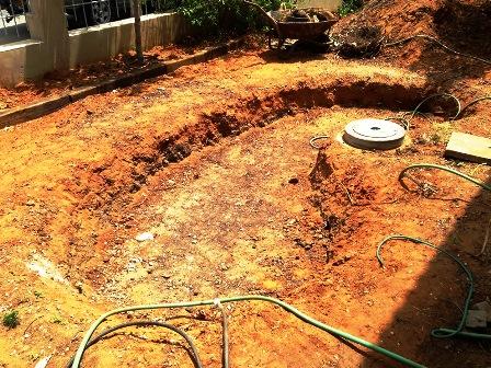 חפירת הבריכה