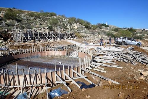 תחילת עבודות הבטון