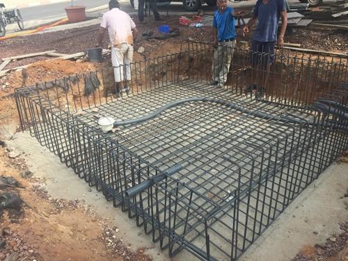 הנחת תשתית ליציקת הבטון