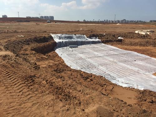 הכנת הקרקע ליציקת בטון