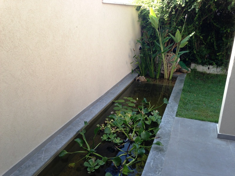 תעלת מים רעות Backyard Fish Pond,