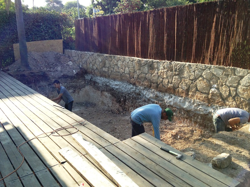 תחילת עבודת החפירה