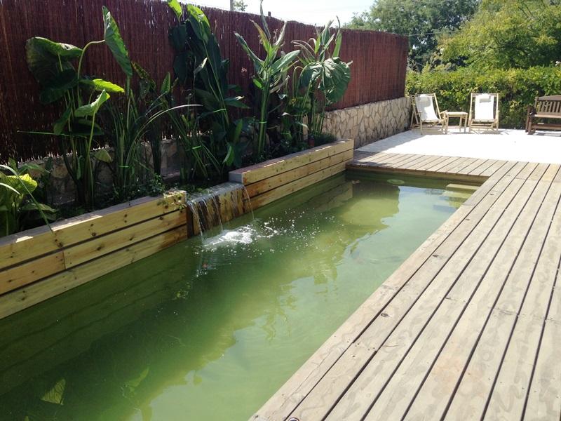 לאחר גמר שתילת הצמחים וזרימת המים דרכו