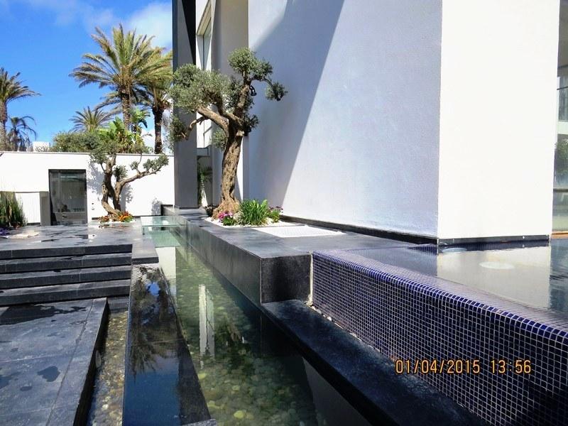 תעלת מים כפולה בהרצליה בכניסה לבית