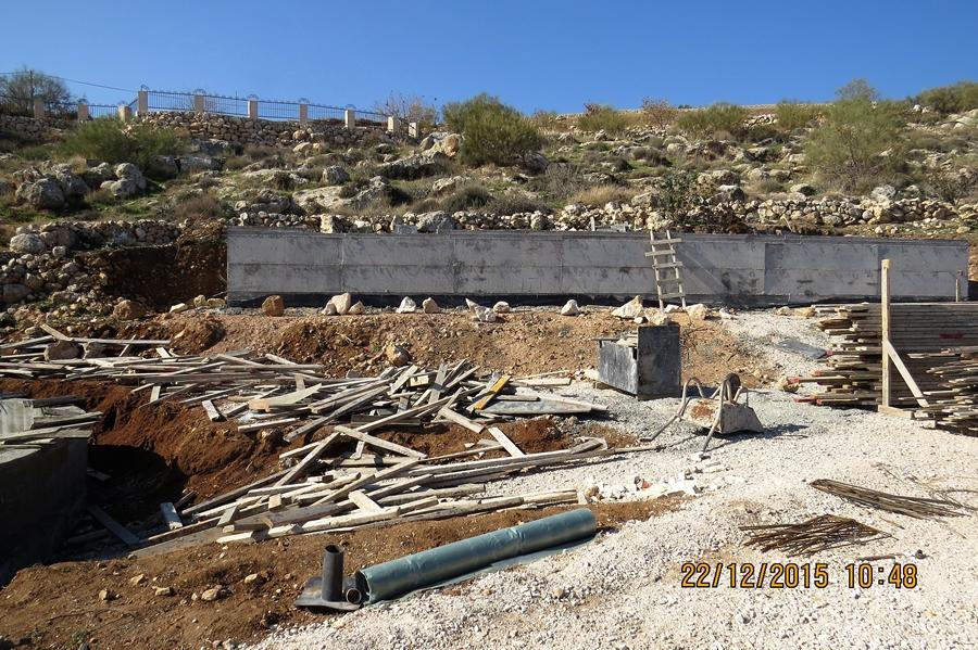 מבת כללי לפני בניית הטרסות