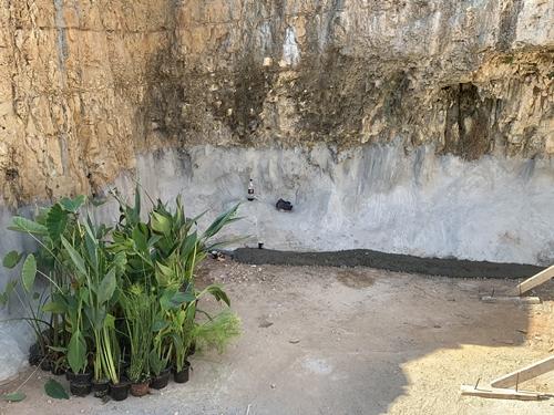 תחילת הכנסת מצעי הסינון וצמחיית הגדה
